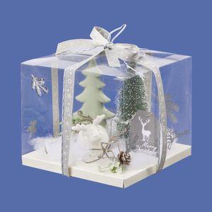 Box für Geld- und Gutscheingeschenke, Transparent 18 x 18 x 15