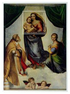 2 Stück Blockmarke 'Sixtinische Madonna' 2012, von M-ware®. ID15686