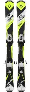 Tecno Pro Kinder Ski  XT Team Jr gelb / schwarz + CW 45 GW/LW 75 GW Bindung Set, Länge:100