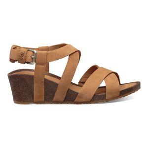 Teva Mahonia Wedge Cross Strap Sandal Womens - Sandale, Teva_Schuhgröße_Damen:38 (US 7), Teva_Farbe:chipmunk