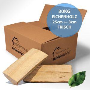 27 kg Brennholz Kaminholz Feuerholz Reine Eiche ofenfertig kammergetrocknet 25cm