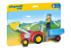 PLAYMOBIL 1.2.3. 6964 Traktor mit Anhänger