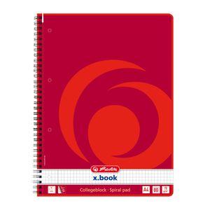 Herlitz Collegeblock / DIN A4 / Spiralblock / kariert / 80 Blatt