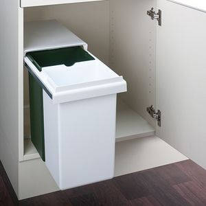 Hailo Double GW. Abfallsammler, weiß/grün.  - Mülleimer