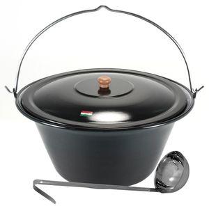 Grillplanet® Gulaschkessel 30 Liter Deckel und Schöpfkelle
