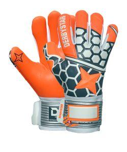 DERBYSTAR Goalie II Torwarthandschuhe orange/grau/weiß 10.5