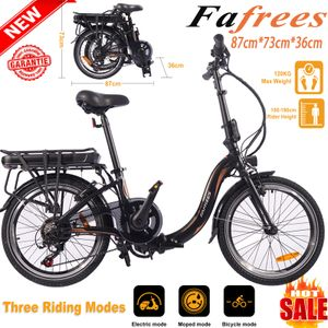 Fafrees 20F054 Faltbares Ebike 250W 36V 10AH Elektrofahrrad Mountainbike Faltbar E-Bike Leistung 25 km / h Trekkingrad bis 120 kg - Gelb