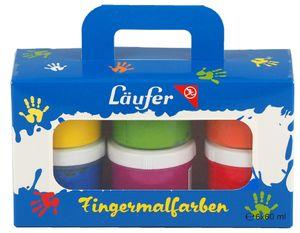 Läufer Fingerfarbe farbig sortiert 6 x 60 ml Set