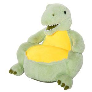 HOMCOM Plüsch-Kindersessel Plüschtier Kinderstuhl Sofa Dinosaurier für Spielzimmer Kinderzimmer für 18-36 Monaten Grün 60 x 55 x 59 cm
