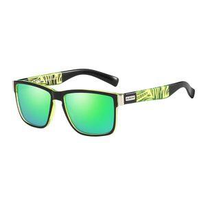 Polarisierte Sport Sonnenbrille Bunte Schwarz Objektiv Männer Radfahren Laufen Fahren Angeln Schutzbrillen Sonnenbrille Motorrad Leichte Brillen Grün Rechteck 138 x 138 x 47 mm Fahrrad Sonnenbrille