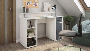 HOMEXPERTS Schreibtisch DON, Breite 120 cm, in weiß, Front in anthrazit, mit viel Stauraum