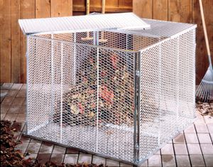BRISTA Komposter aus Streckmetall verzinkt 100 x 100 x 80 cm