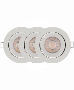 LEDVANCE SPOT SIMPLE DIM LED Einbauleuchte Warmweiß Ø 8,7 cm Aluminium Weiß 3-Flammig