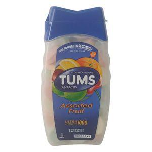Tums Calciumcarbonat Antazidum, Ultra Stärke 1000, Verschiedene Früchte, 72 CT