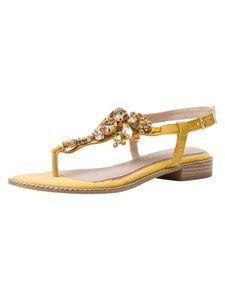 Marco Tozzi BY GUIDO MARIA KRETSCHMER Damen Sandale gelb 2-2-88100-26 F-Weite Größe: 40 EU
