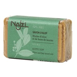 Najel Aleppo Olivenöl Seife mit 12% Lorbeeröl im Doppelpack 2 x 100 g