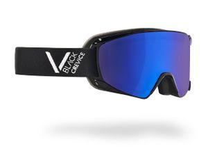BLACK CREVICE - Damen/Herren Skibrille - Modell: SCHLADMING | Farbe: Schwarz/Weiß / Scheibe: Blau | Größe: M