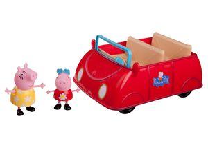 PEPPA - Peppa's großes rotes Auto mit 2 Spielfiguren