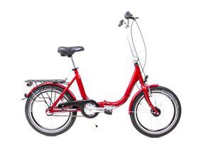 20 Zoll Alu Klapp Fahrrad Faltrad Folding Bike Shimano 3 Gang Nabendynamo rot