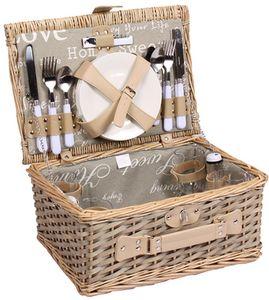 Weiden - Picknickkorb für bis zu 4 Personen - Komplettsett