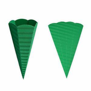 Creleo - Geschwister Schultüten 5 Stück grün aus 3D Wellpappe 41cm - Zuckertüte als Rohling zum basteln, bemalen und bekleben