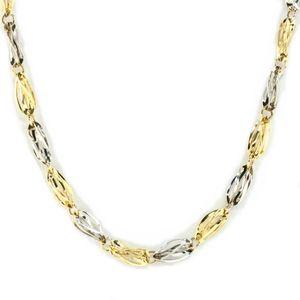 Damen Collier Halskette echt Gold 333 (8kt) in bicolor Länge 45 cm