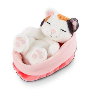 Nici 47143 Sleeping Kitties schlafende Katze im Körbchen 16cm Plüsch Glückskatze