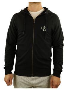 Calvin Klein Sweatjack Jacke Herren Full Zip Hoodie Gr. L Schwarz