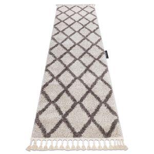 Teppich, Läufer BERBER TROIK sahne - in die Küche, Halle, Korridor 70x300 cm creme