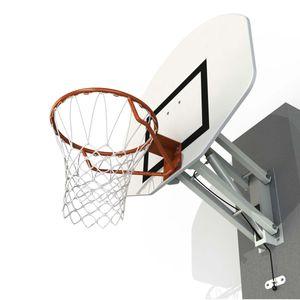 Wandmontierter Basketballkorb mit höhenverstellbarem Halbmond Sporti France