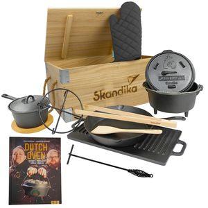 SKANDIKA Dutch Oven Set Flame Master in Holzkiste