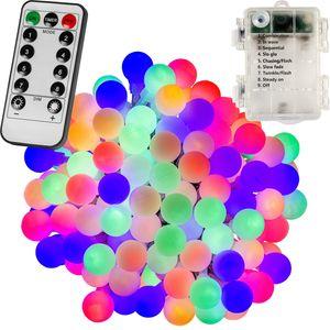 VOLTRONIC® 200 LED Lichterkette Party, bunt, Batt, FB