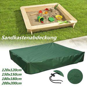 Sandkastenabdeckung Abdeckplane Sandkastenplane Mit Kordelzug 120*120cm