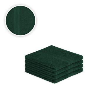 Handtuch Spar Set Baumwolle 500 g/m² Dunkelgrün 4 x Handtuch 50 x 100 cm
