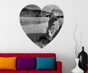 Zebra Wandbild Savanne Afrika Wandaufkleber Wandsticker Wandtattoo Wohnzimmer Schlafzimmer Wand Aufkleber 11D196, Wandbild Größe A:96cmx96cm