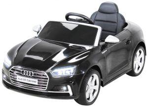 Kinder Elektroauto Audi S5 Cabriolet Leder Sitz Kinderfahrzeug Kinderauto (Schwarz)