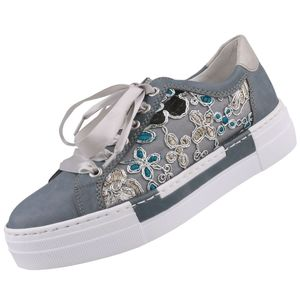 Rieker Damen Plateau-Sneaker Blau, Schuhgröße:EUR 38