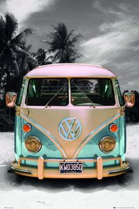 VW Transporter Poster Love California Camper 91,5 x 61 cm