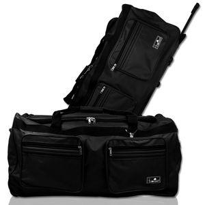 XXL 160L Trolleytasche Reisetasche Trolley Sporttasche schwarz