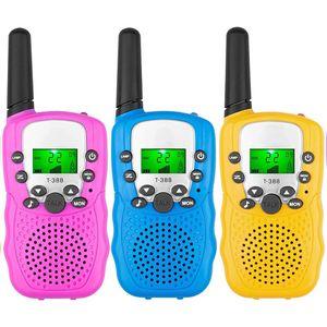 3er Pack Walkie Talkies, 22-Kanal-Funkgerät mit beleuchteter LCD-Taschenlampe, 3-Meilen-Reichweite für Kinder, Outdoor-Abenteuer, Camping, Wandern