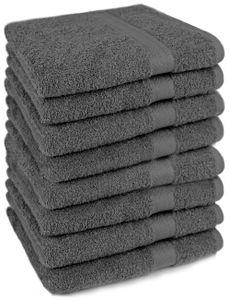 Betz  8-tlg. Handtuch-Set PREMIUM 100% Baumwolle 8 Handtücher Größe 50x100 cm Farbe - anthrazit
