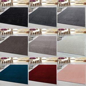 Kurzflor Teppich Robust Gabbeh Optik Schlafzimmerteppich Wohnzimmerteppich, Farbe:Rose, Grösse:200x290 cm