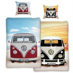 VW Volkswagen Bulli Beach 089 Bettwäsche Linon / Renforcé