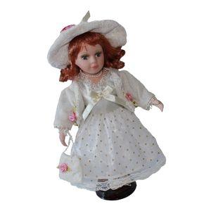 30cm Elegant Porzellan Mädchen Puppen Menschen Figuren in Princess Dress White Weiß 30 cm
