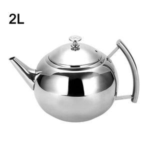 2Liter Teekanne mit Sieb für losen Tee Wasserkocher aus Edelstahl Kaffeekanne mit Sieb Infuser Teekannen Set