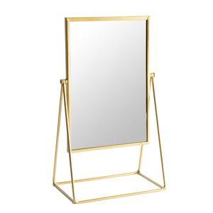 Harbour Housewares Frisierkommode Rasierspiegel - Freistehende Tabletop-Verfassungs-kosmetische Spiegel - 22cm - Gold