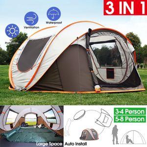 3-4 Personen Tunnelzelt automatische Kuppelzelt Familienzelt  Camping Zelt Outdoor Wasserdicht