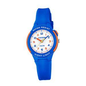 Calypso Kunststoff PUR Kinder Uhr K6069/3 Armbanduhr blau Analogico D2UK6069/3
