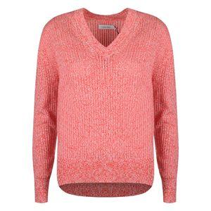 """Calvin Klein Pullover """"Lace Mouline"""" -  K20K200636 / Europe - Weiß, Rot-  Größe: S(EU)"""