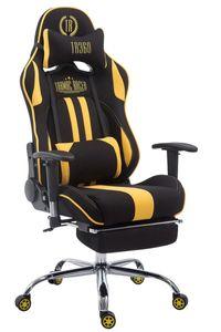 CLP Racing Bürostuhl Limit Stoff mit/ohne Fußablage, Farbe:schwarz/gelb, Fußablage:mit Fußablage